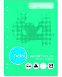 BINDER BOOK TUDOR A4 64PG PK20