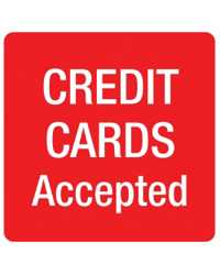 SIGN APLI S/ADH PK1 CREDIT CARDS ACCEPTED