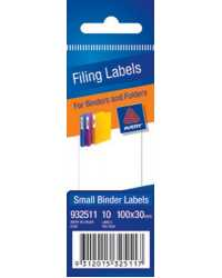 FILING LABEL AVERY SMALL 100X30MM 10'S MANUAL