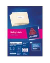 LABEL AVERY INKJET J8163 ADDRESS 14L 99.1X38.1MM 50'S