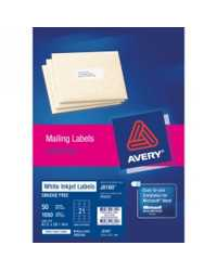 LABEL AVERY INKJET J8162M 99.1X34 (50L'S)
