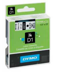 LABEL CASSETTE DYMO 9MMX7M D1 BLUE ON WHITE