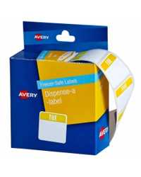 LABELS AVERY DISPENSER TUESDAY PRINTED 24x24 (FREEZER SAFE) PK