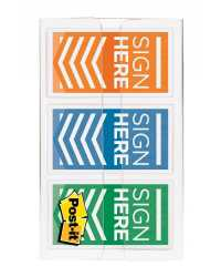 FLAGS COLOR CODE SIGN HERE POST-IT 24MM 682-SH-OBL ORANGE/BLUE/L
