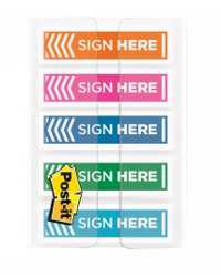 FLAGS SIGN HERE POST-IT 12MM 684-SH-OPBLA ORANGE/PINK/BLUE/LIME/