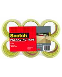 TAPE PACKAGING SCOTCH #400 48MMX75M CLEAR PK6