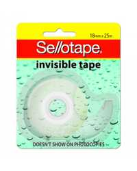 TAPE INVISIBLE SELLOTAPE ON DISPENSER 18MMX25M
