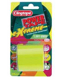 TAPE CLINGTAPE POWER TAPE EXTREME 4M FLUORO YELLOW