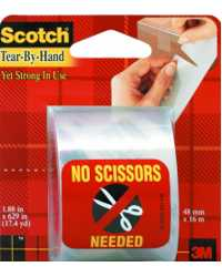 TAPE PACKAGING SCOTCH #3841 48MMX16M TEAR BY HAND