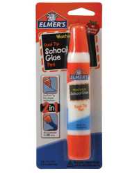 GLUE ELMERS SCHOOL GLUE DUAL TIP BLISTER CARD