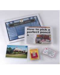 CARD HOLDER MARBIG A4 PLASTIC (NO HOLES) CLEAR PK10