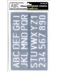 STENCIL CELCO C30 LETTERING 30MM