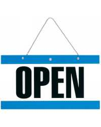 QUARTET OPEN/CLOSE SIGN WITH CHAIN 75x150mm
