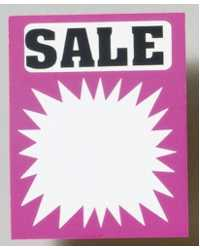 SIGN SALE SPLASH FLUORO 50X60 PK100