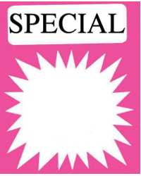 SIGN SPECIAL SPLASH FLUORO 96X120 PK100