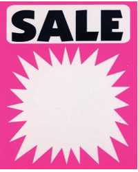 SIGN SALE SPLASH FLUORO 60X90 PK100