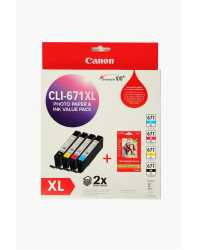 INKJET CART CANON CLI671XL VALUE PACK
