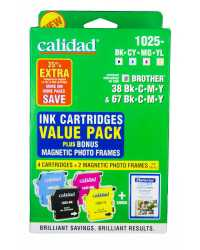 INK JET CART CALIDAD 1025- VP BROTHER LC38/67 BK/C/M/Y VALUE PK
