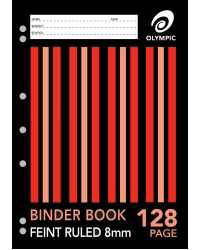 BINDER BOOK OLYMPIC A4 128 PAGE PK10