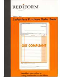 ORDER PURCHASE BOOK #SRB201 REDIFORM 2PT CARBONLESS PK5