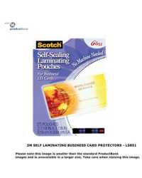 BUSINESS CARD POCKET SCOTCH LS851 SELF LAMINATING PK25