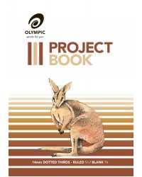 PROJECT BOOK OLYMPIC 524 14MM D/THIRDS 24PG PK10