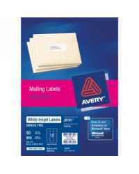 LABEL AVERY INKJET J8161-50 1UP