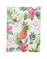ADDRESS BOOK C/LAND 190X130MM CASEBOUND PINEAPPLE 72LF