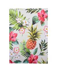 NOTEBOOK C/LAND A5 CASEBOUND RULED PINEAPPLE 100LF