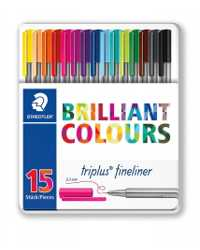 PEN STAEDTLER FT TRIPLUS FINELINER ASST TIN 15