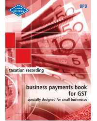 BUSINESS PAYMENTS BOOK FOR GST ZIONS (RED)