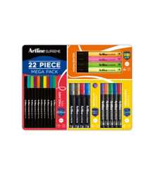 PENS/MARKERS ARTLINE MEGA VALUE PACK FINELINE/METALLIC/PERMANENT