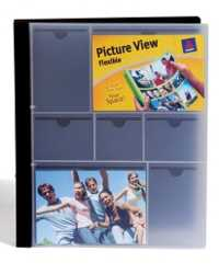 BINDER AVERY A4 2R 25MM FLEXIBLE PICTURE VIEW BLUE