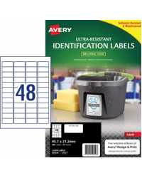 LABEL AVERY 45.7X21.2MM ULTRA-RESISTANT OUTDOOR 48UP PK10