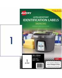 LABEL AVERY 208X295MM ULTRA-RESISTANT OUTDOOR 1UP PK10