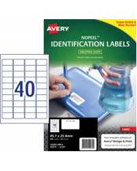 LABEL AVERY 45.7X25.4MM L6145 NOPEEL EXTRA STRONG PERM 40UP PK10