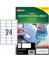 LABEL AVERY 63.5X33.9MM L6146 NOPEEL EXTRA STRONG PERM 24UP PK1