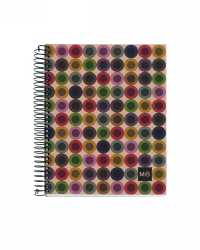 NOTEBOOK MILQUELRIUS 100% RECY 240PG A5 7MM RULED HARDCOVER PK 5