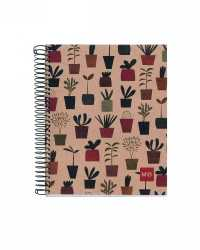 NOTEBOOK MILQUELRIUS 100% RECYL 240PG A5 7MM RULED HARDCOVER PK5