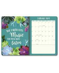 PLANNER 2019 ORANGE CIRCLE A5 ON-TIME WEEKLY SUCCULENT PARADISE
