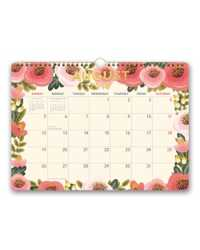 WALL CALENDAR 2019 ORANGE CIRCLE 340X250MM DELUXE FLOWER POWER