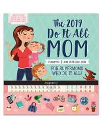 WALL CALENDAR 2019 ORANGE CIRCLE 300X320MM DO IT ALL MUM