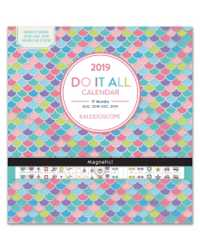 WALL CALENDAR 2019 ORANGECIRCLE 300X320MM DO IT ALL KALEIDOSCOPE