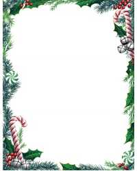 PAPER GEO XMAS A4 CANDY CANES IVY & BELLS PK25