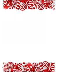 PAPER GEO XMAS A4 PEPPERMINT CANDY GLITTER PK15