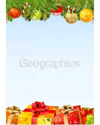 PAPER GEO XMAS A4 GIFTS UNDER TREE PK25