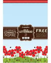 PAPER GEO A4 RED POPPIES POP UP 90GSM PK25