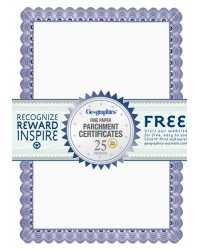 PAPER CERTIFICATES GEO A4 CONVENTIONAL BLUE PK25