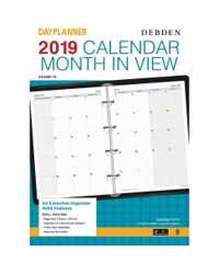 DIARY REFILL 2019 DEBDEN DATED A4 MONTHLY PLANNER EX5300 (1YEAR)