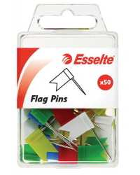 FLAG PINS ESSELTE ASST PK50